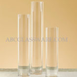 "Cylinder Vases 4"" Diameter Mouth"