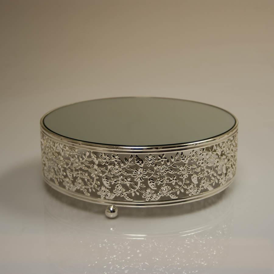 12 Quot D X 3 25 Quot H Cake Stand Silver M20014 Cnt 1 Abc Glassware