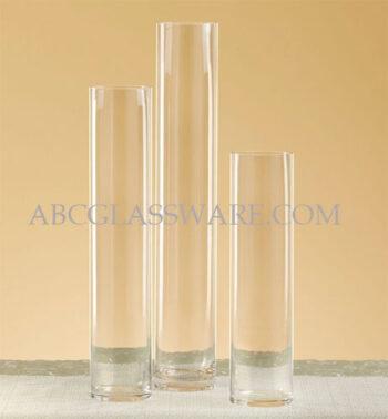 """Cylinder Vases 4"""" Diameter Mouth"""