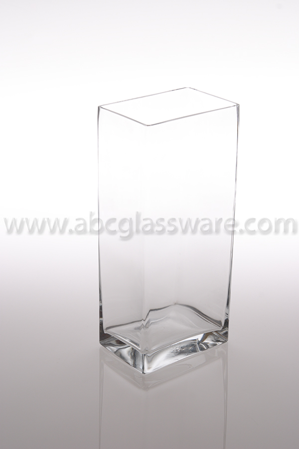 Glass Rectangular Vase 16h 5x7 Set Of 4 Abc Glassware