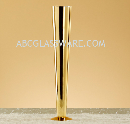 24 Quot Gold Color Trumpet Vase Wholesale Set Of 6 Abc Glassware