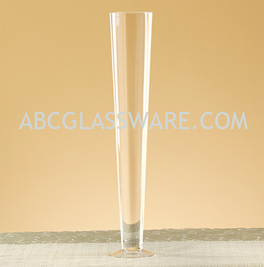 Trumpet Vases Wholesale 32 Set Of 6 Abc Glassware