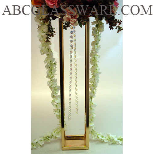 Set of quot h gold metal party centerpiece stand abc