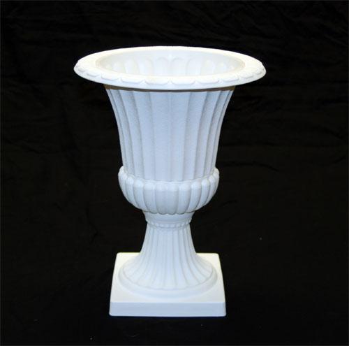 White 16h 12d Pedestal Plastic Urn Set Of 4 Abc Glassware