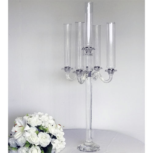 Crystal Candelabra Hurricane 5 Branches 39 Tall 14 5 Wide Abc Glassware