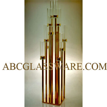 Silver Gold Alloy Candelabra Stand